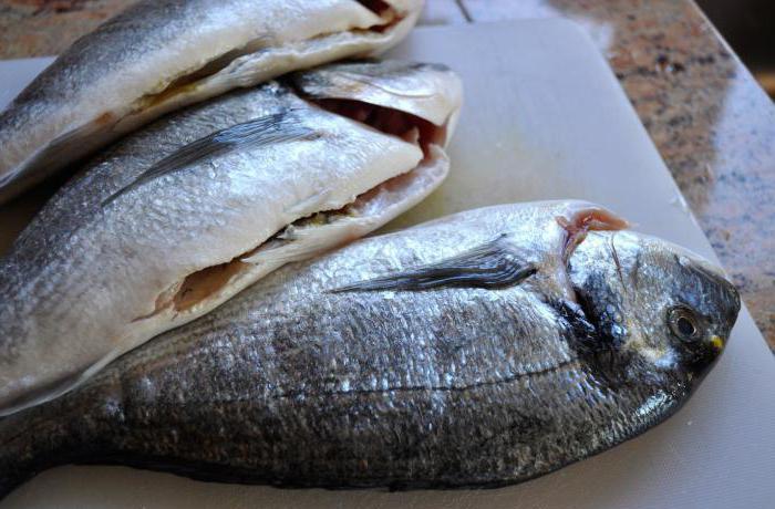 Подготовленная к засолке рыба