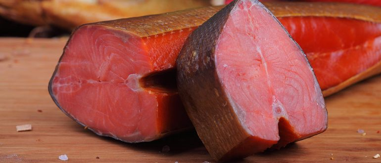 Копченое мясо нерки