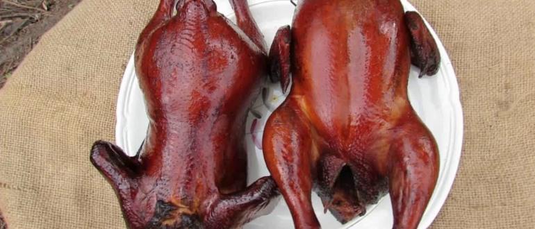 Закопченная холодным способом курица