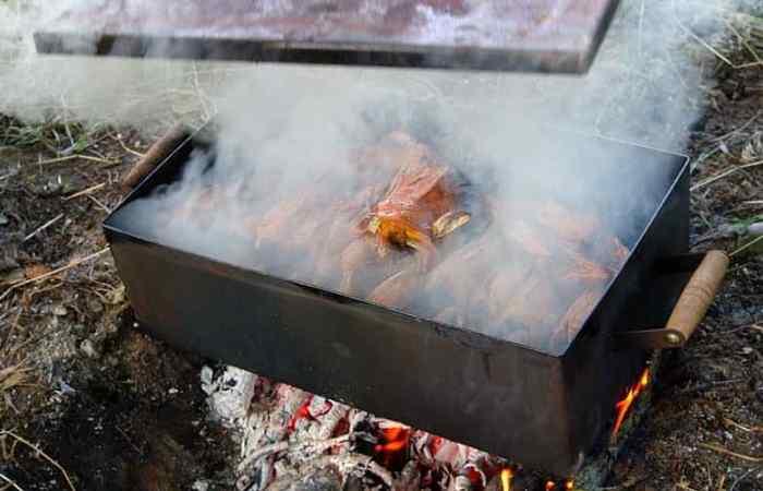 Обработка горячим дымом