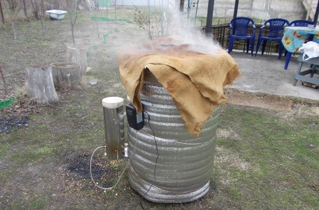 Использование дымогенератора