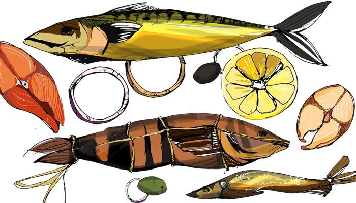Нарисованная рыба