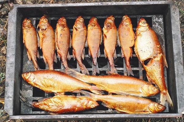 Рыбка в коптильне