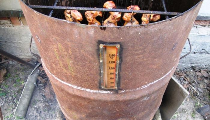 Коптильня с термометром