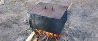 Как своими руками сварить коптильню из металла