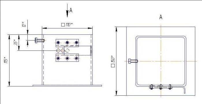 Схема для изготовления зольника